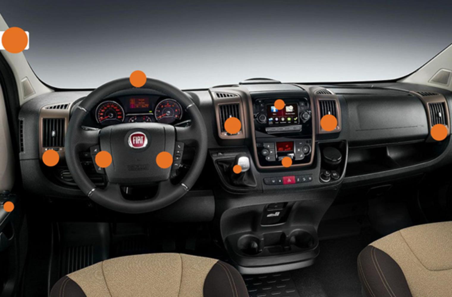 Temeljito se razkuži armaturna plošča in celotna kabina avtodoma.